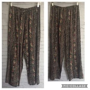 Floral Tribal Pants KATHIE LEE COLLECTION, Medium